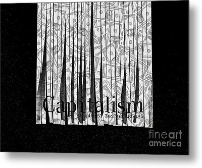 Secrets Behind The Veil Of Crony Capitalism Metal Print by Jorgo Photography - Wall Art Gallery