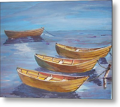 Secure For The Night Metal Print by Shirley Rush