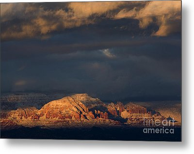Sedona Arizona After The Storm Metal Print by Ron Chilston