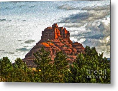 Sedona Arizona Bell Rock Painting Metal Print by Gregory Dyer