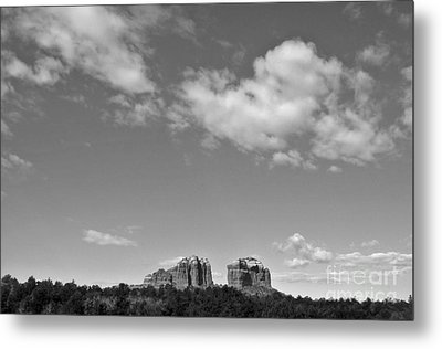 Sedona Arizona Big Sky In Black And White Metal Print by Gregory Dyer