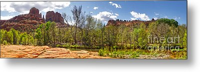Sedona Arizona Cathedral Rock Panorama Metal Print by Gregory Dyer
