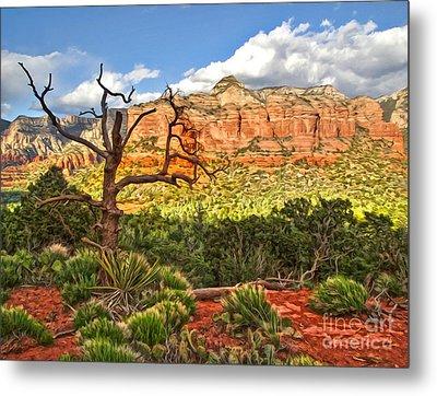 Sedona Arizona Dead Tree - 03 Metal Print by Gregory Dyer