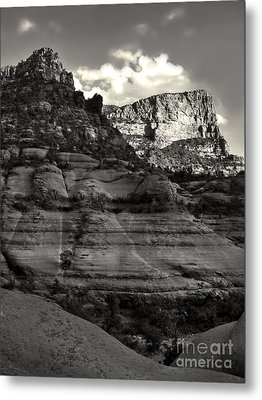 Sedona Arizona Mountains In Black And White - 02 Metal Print by Gregory Dyer