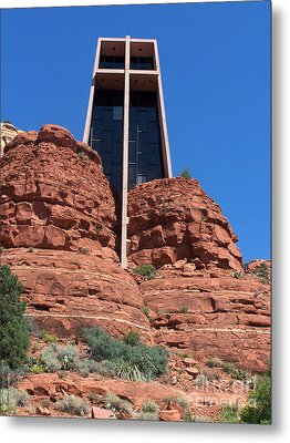 Metal Print featuring the photograph Sedona Chapel 5 by Tom Doud