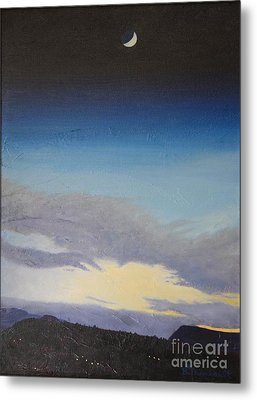 Sedona Moon Metal Print by Beverly Theriault