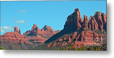 Metal Print featuring the photograph Sedona Panorama by Debby Pueschel