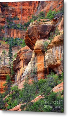 Sedona Stripes Metal Print