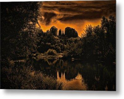 Sedona Sundown ... Metal Print by Chuck Caramella