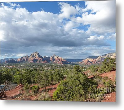 Sedona View Trail Metal Print by Marlene Rose Besso