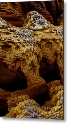 Metal Print featuring the digital art Sedona Vortex Inspiration by Steed Edwards