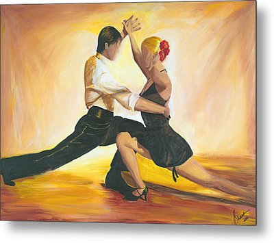 Metal Print featuring the painting Seduction by Sheri  Chakamian