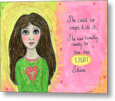 See Her Light Shine Metal Print