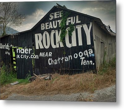 See Rock City Barn Metal Print