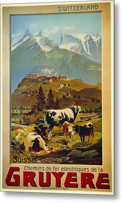 See Switzerland 1906 Metal Print by Mountain Dreams