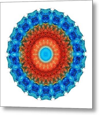Seeing Mandala 2 - Spiritual Art By Sharon Cummings Metal Print by Sharon Cummings