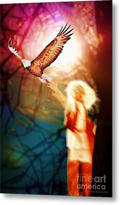 Seek Your Vision For It Is Time Metal Print by Polly Peacock