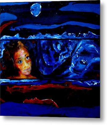 Seeking Sleep Trilogy Metal Print by Kathy Peltomaa Lewis