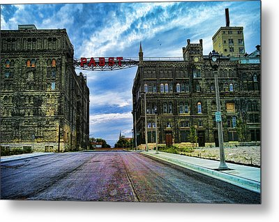 Seen Better Days Old Pabst Brewery Home Of Blue Ribbon Beer Since 1860 Now Derelict Metal Print by Lawrence Christopher