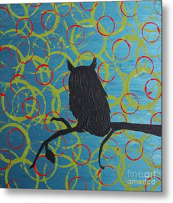 Metal Print featuring the painting Seer by Jacqueline McReynolds