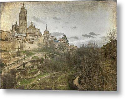Segovia View Metal Print by Joan Carroll