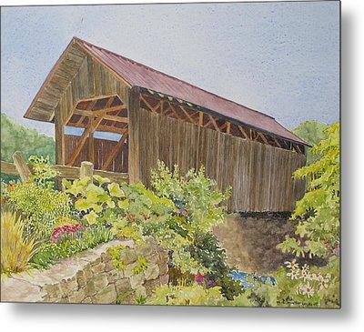 Seguin Covered Bridge In Charlotte Vermont Metal Print by Mary Ellen Mueller Legault