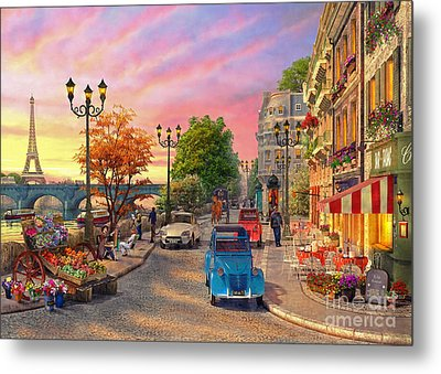 Seine Sunset Metal Print