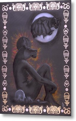 Sekhmet And Bastet Metal Print by Diana Perfect