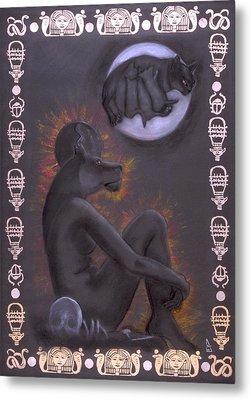 Sekhmet And Bastet Metal Print