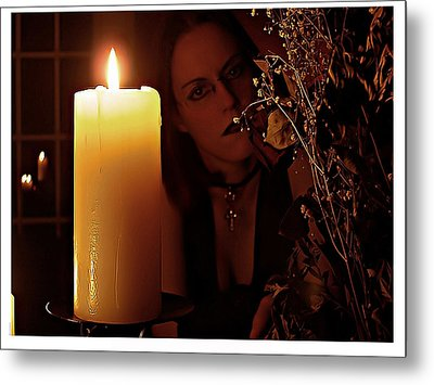 Selena Candle Light And Dead Roses Metal Print by Matt Nelson