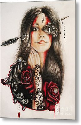 Self Affliction Metal Print by Sheena Pike
