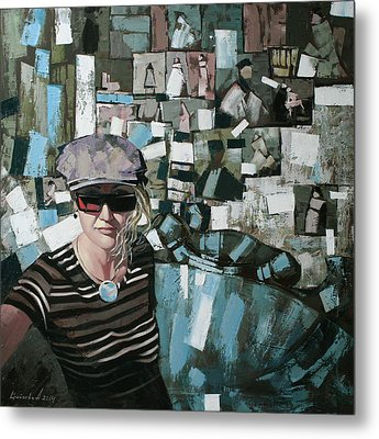 Metal Print featuring the painting Self by Anastasija Kraineva
