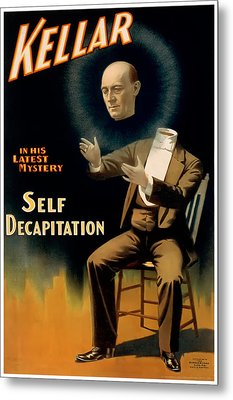 Self Decapitation Metal Print by Terry Reynoldson