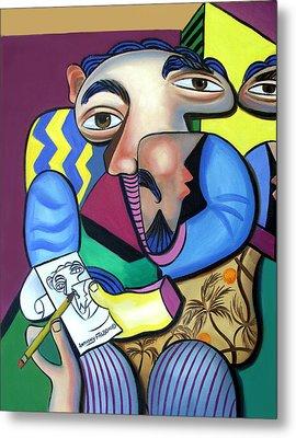 Self Portrait 101 Metal Print by Anthony Falbo