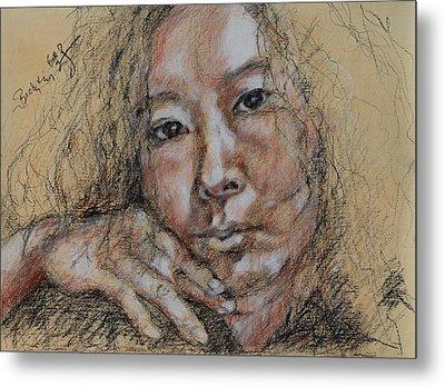 Self Portrait Of Becky Kim 2014 02 Metal Print
