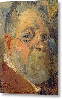 Self Portrait Oil On Panel Metal Print