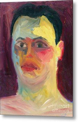Self Portrait Oil Panting Metal Print