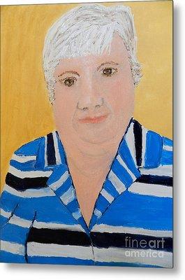 Self Portrait Metal Print by Pamela  Meredith