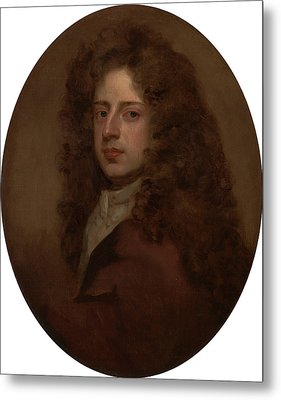 Self-portrait, Sir Godfrey Kneller, 1646-1723 Metal Print by Litz Collection