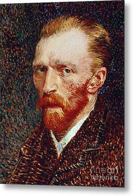Self-portrait Metal Print by Vincent van Gogh