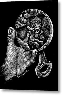 Self Reflection Metal Print by Bomonster