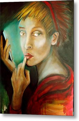 Metal Print featuring the painting Selfie by Irena Mohr