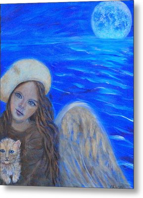 Selina Little Angel Of The Moon Metal Print by The Art With A Heart By Charlotte Phillips