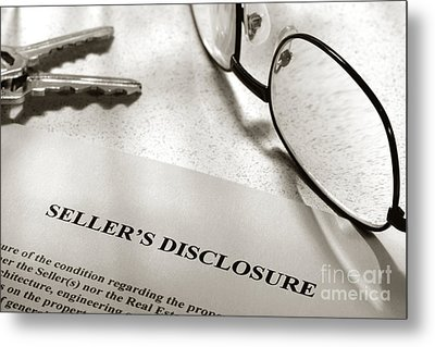 Seller Property Disclosure Metal Print by Olivier Le Queinec