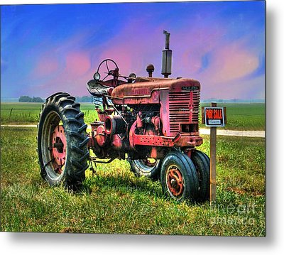 Selling The Farmall Metal Print by Julie Dant