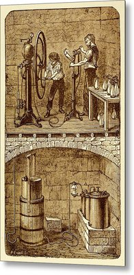 Selzer Water Manufactuary Metal Print by David Parker