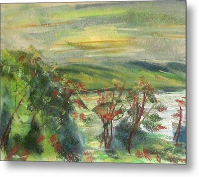 Seneca Lake Summer Morning Metal Print