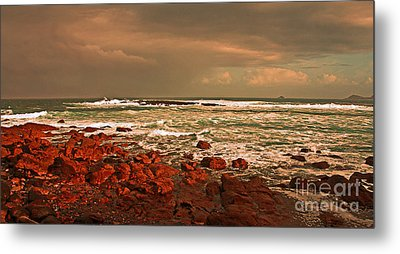 Sennen Storm Metal Print by Linsey Williams