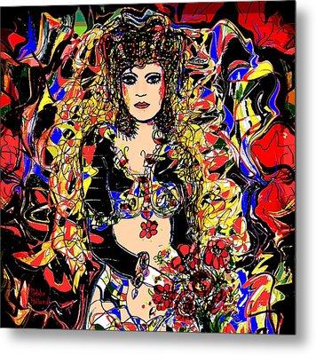 Senorita Florita Metal Print by Natalie Holland