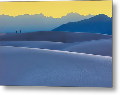 Sense Of Scale - White Sands - Sunset Metal Print